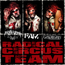 "Nuclear Vomit / FAM / Grindbashers ""Radical Circus Team"" CD"